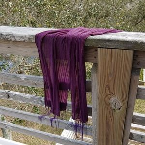 Purple scarf with trim